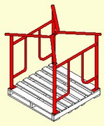 Manufacturer, stack racks, stackable carts, pallet frames, stacking frames