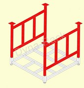 Manufacturer, stack racks, pallet stacking frames, stackable carts